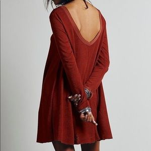 Free People Long Sleeved Swing Dress in XS